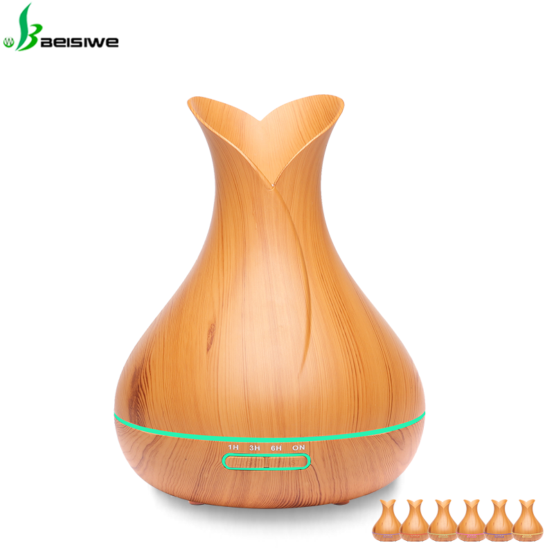 Best feedback effect wood grain aroma diffuser electric aromatherapy essential oil diffuser