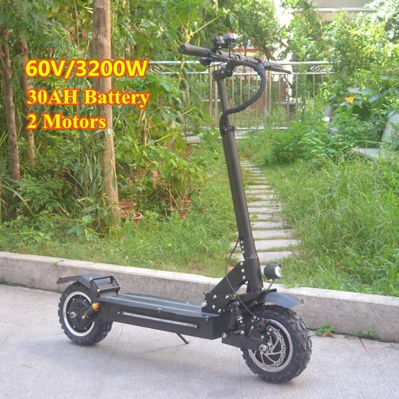 Electric Scooters C Suspension Most Powerful Electric Scooter 60v 18.2 A Battery 3200w Motor E Bike For Sale Fold Up Mobility European Warehouse Roller Skates, Skateboards & Scooters