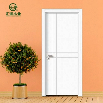 Solid White Wood Wood Door,Teak Wood Door Frame,Pvc Mdf Door - Buy ...