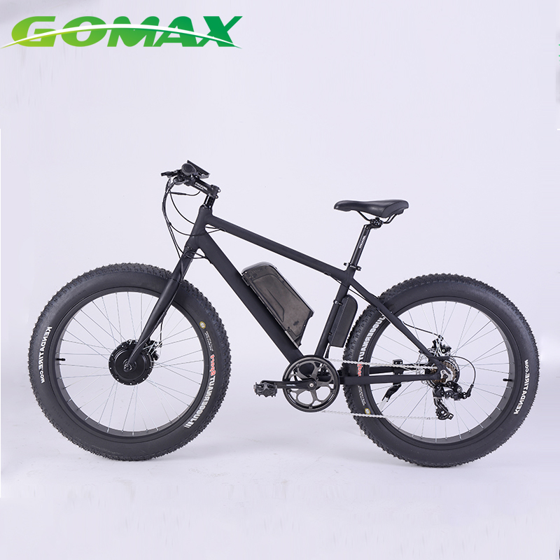 26' Fat Tyre Titanium Full Suspension Carbon Mountain Lithium Battery Mid Drive Electric Bike Frame