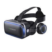 Shinecon factory supply 3d vr glasses VR headset with headphone