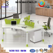 Modern office workstation for 3 person/ office furniture clover design staff tables