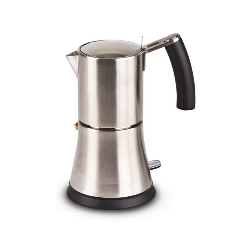 High quality classic 2/4/6/9cups stainless steel coffee maker induction coffee maker espresso moka coffee