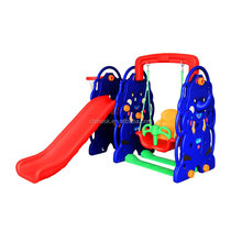 Children plastic slide funny and safety kids indoor or outdoor playground slide with swing