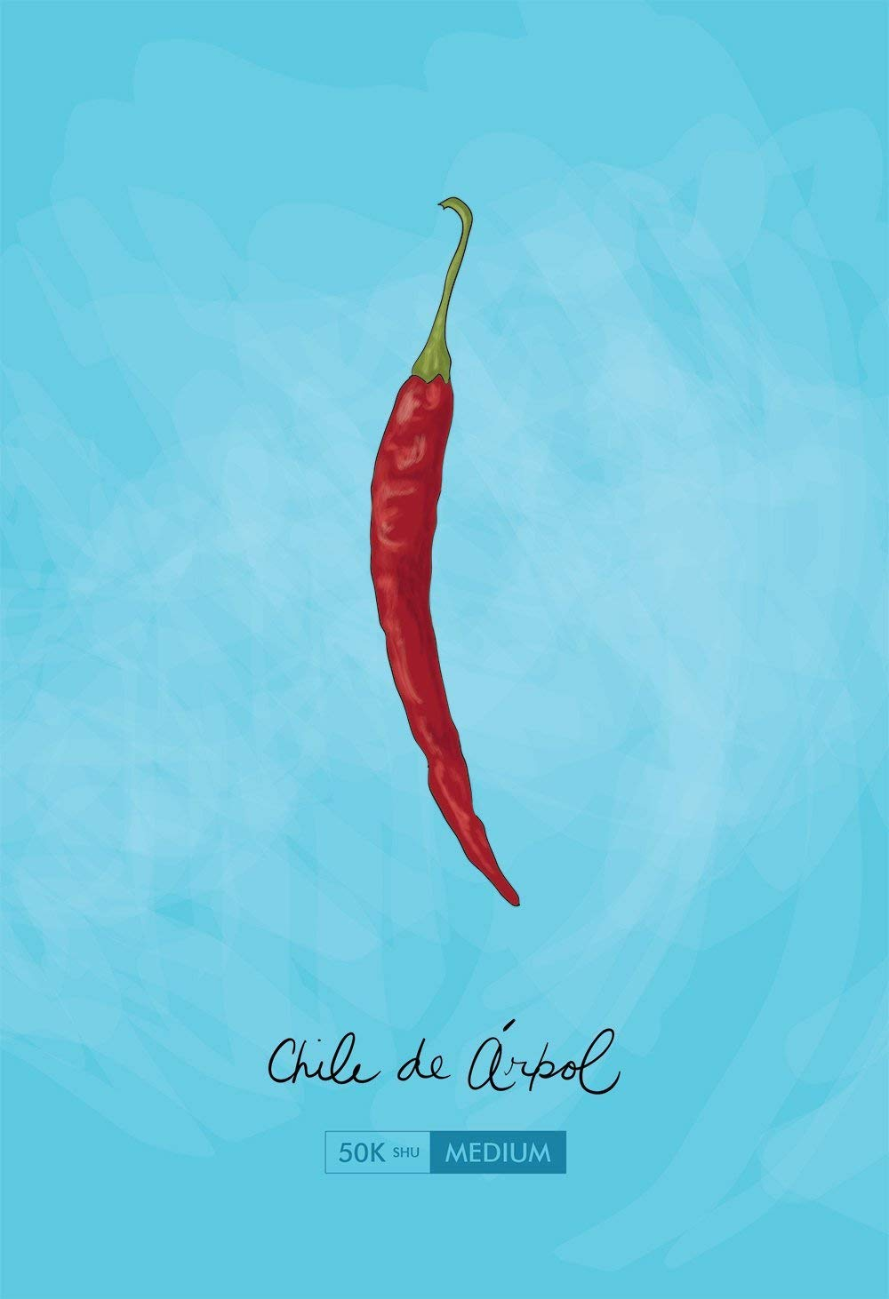 Chile de Arbol Kitchen Art Chili Pepper Print Mexican Rustic Giclee on Cotton Canvas and Paper Canvas Wall Decor
