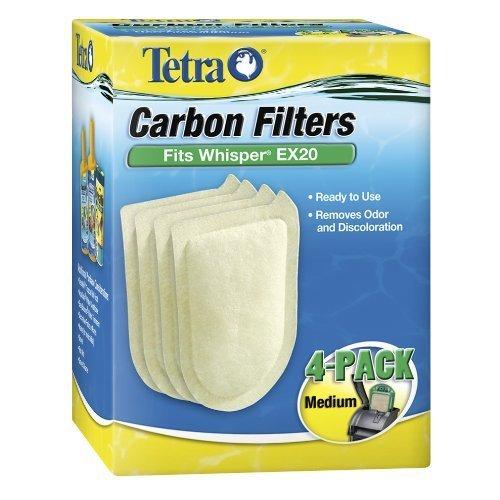 Tetra 26331 Whisper EX Carbon Filter Cartridges, Medium, 4-Pack by Tetra