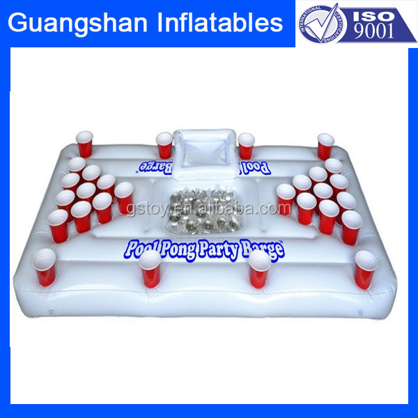 Custom Folding Inflatable Beer Pong Float For Pool Games