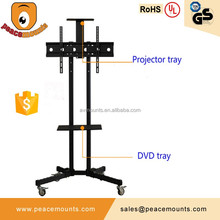 Peacemounts tv stand mount with floor stand and set-top box tv mount dvd wall bracket acceptable