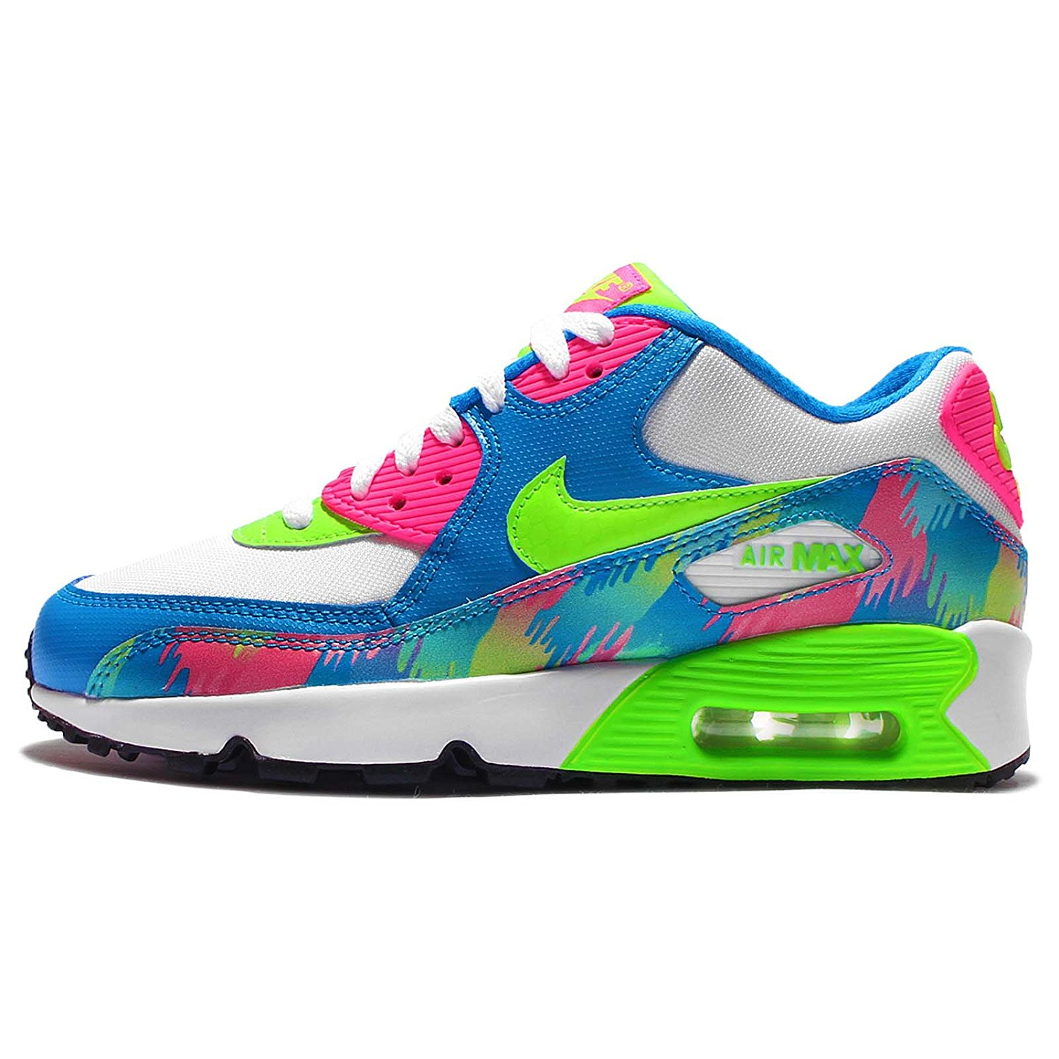 official photos cd7ca 1bd32 Get Quotations · NIKE AIR MAX 90 PRINT MESH GS Girls sneakers 833497