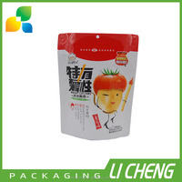 Food grade plastic stand up pouch french fries packaging bags