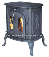 cast iron stove with boiler(JA046B)