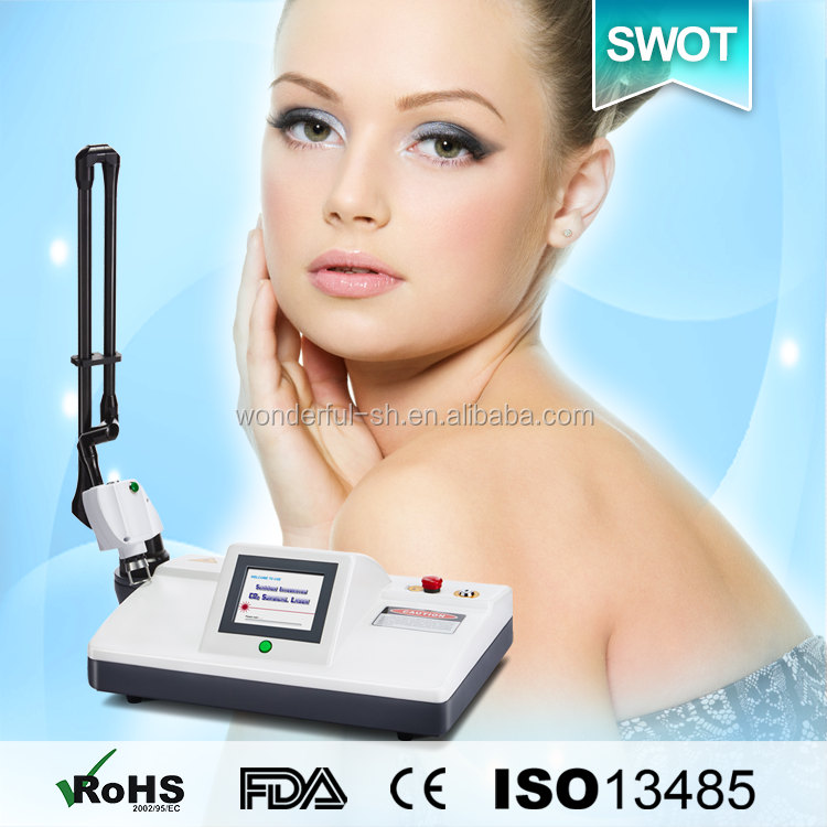 Fractional laser co2 machine with ultra pulse mode and scan mode for skin renew (TUV Medical CE)