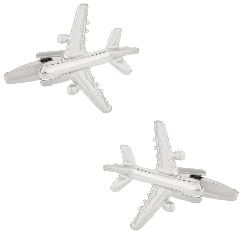 Kiola Designs Gold Toned Retro Spitfire Plane Cufflinks