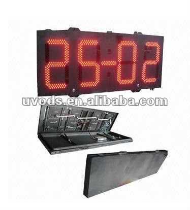 Digital Led Clock Sign With Remote Controller,Led Clock display Low Price with Good Quality