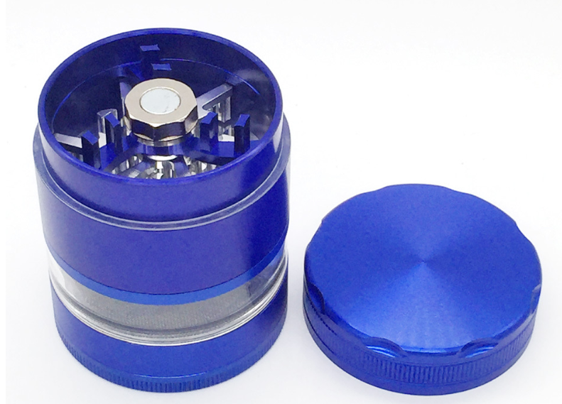 China factory wholesale tallest transparent clear window manual herb wee d grinder on sale