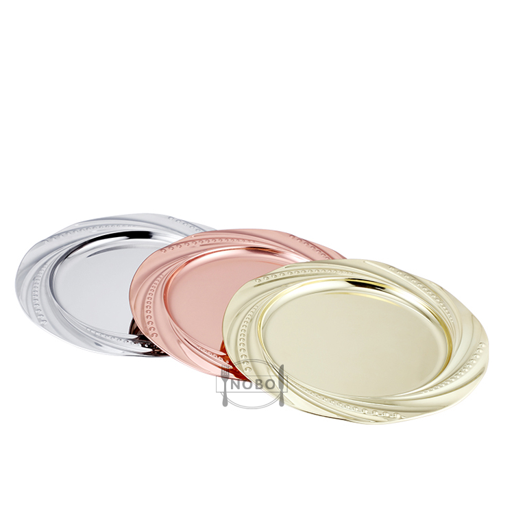 Cheap price round shape stainless steel dinner charger plate for wedding