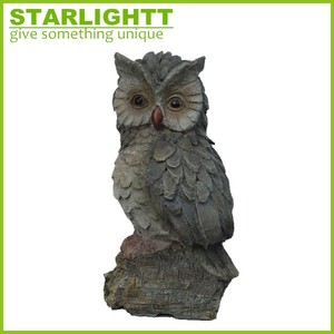 resin crafts decorative home ornament artificial bird owl figurines