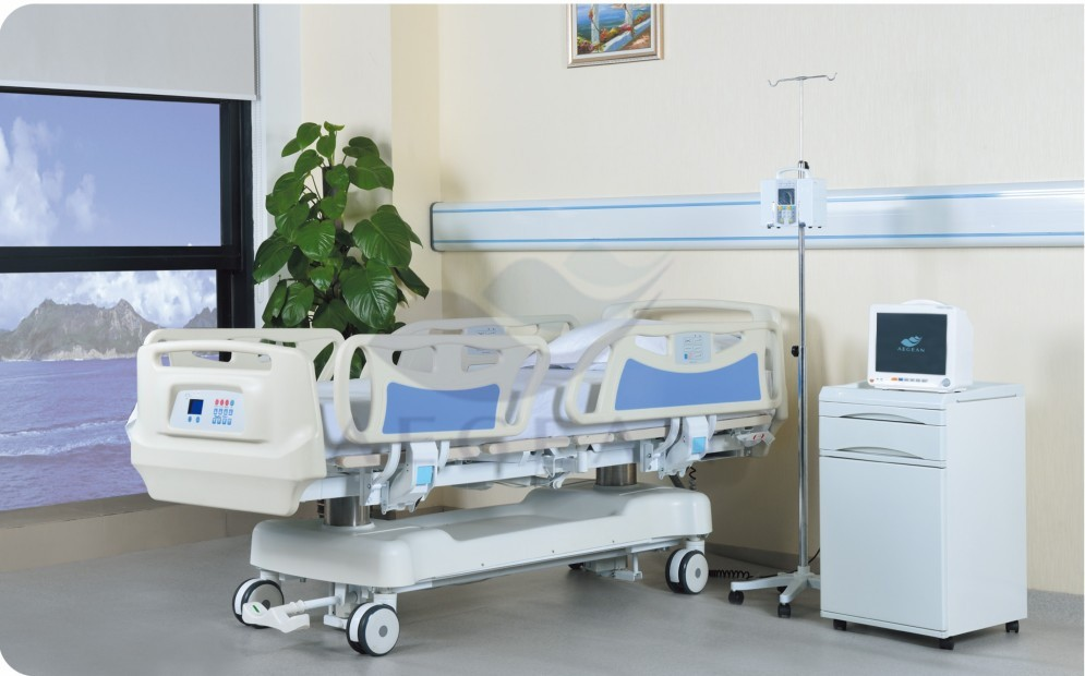 Linak motor ICU five function healthcare hospital patient medical equipments clinic electric adjustable bed