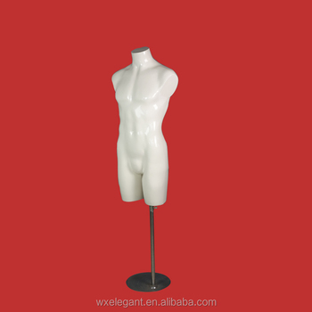 New design plastic muscle half body mannequin male in cloth shop for sale