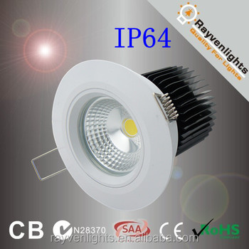 IP64 10w Recessed Led Waterproof Shower Light