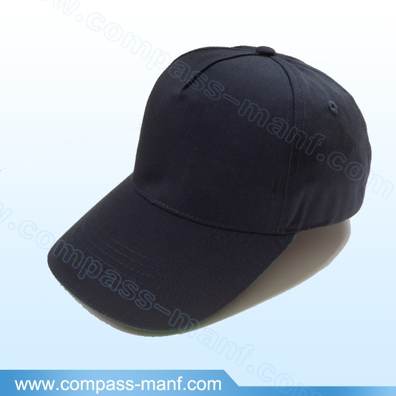 classic cotton twill blank 5 panels structured golf baseball hats
