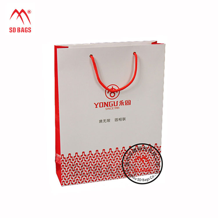 Factory Price Custom printed washable craft gift shopping paper bag with handle