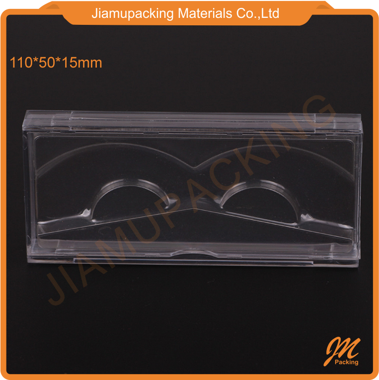 Plastic private labe acrylic eyelash extension box packaging custom case