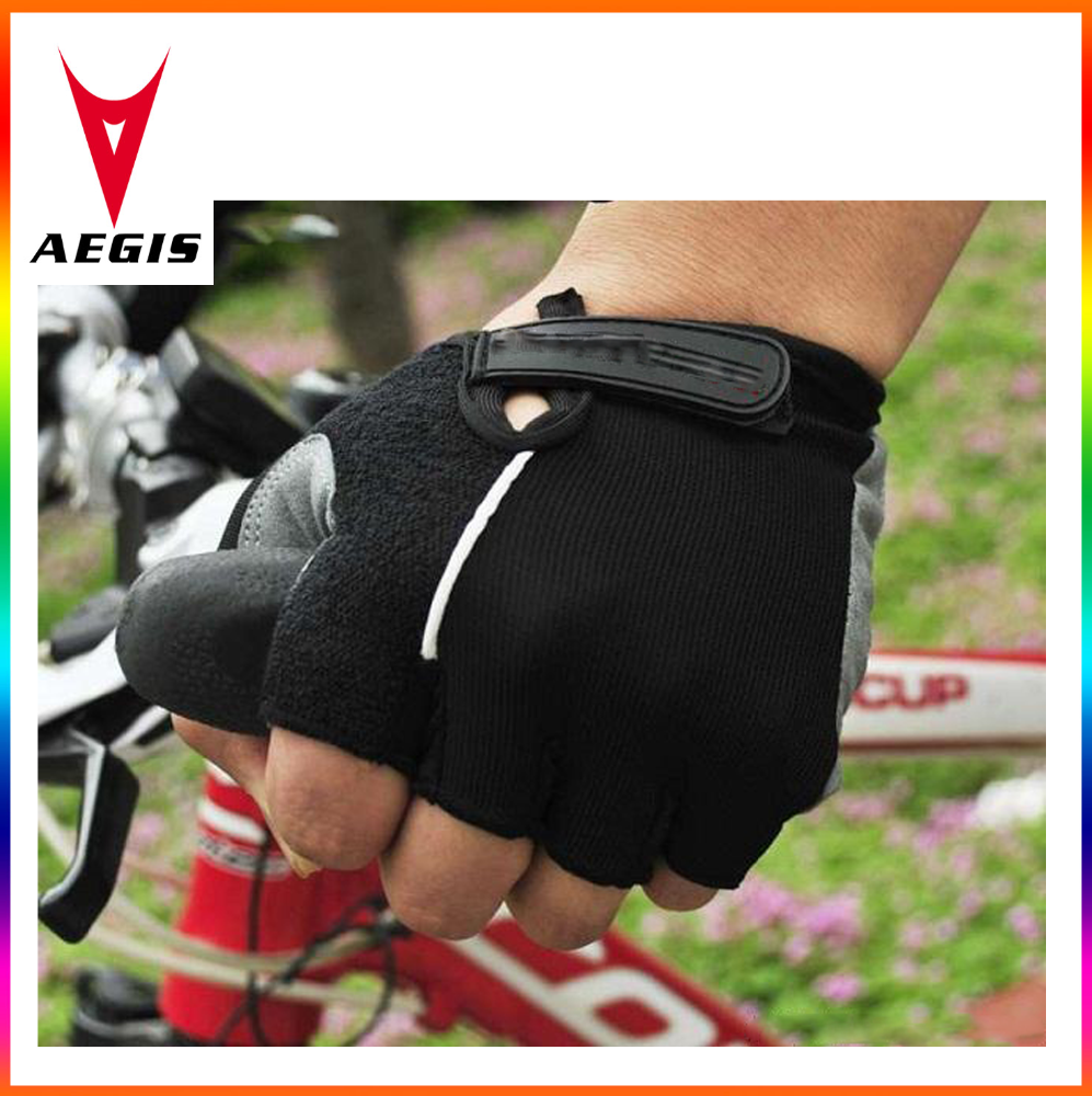 Breathable antiskid half finger cycling gloves Leather Mountain Bike gloves