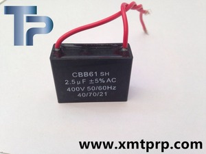 Trump High quality 10uf 450v Stable performance Motor CBB61 capacitor