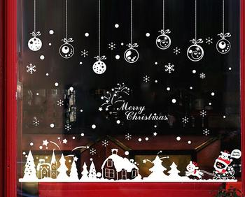 xmas shop window christmas sticker glass door decals item sis 26 in stock - Christmas Decals For Glass