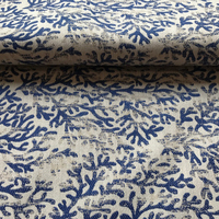 Coral Pattern Upholstery Fabric Furnishing Fabric Jacquard Woven Sofa Fabric