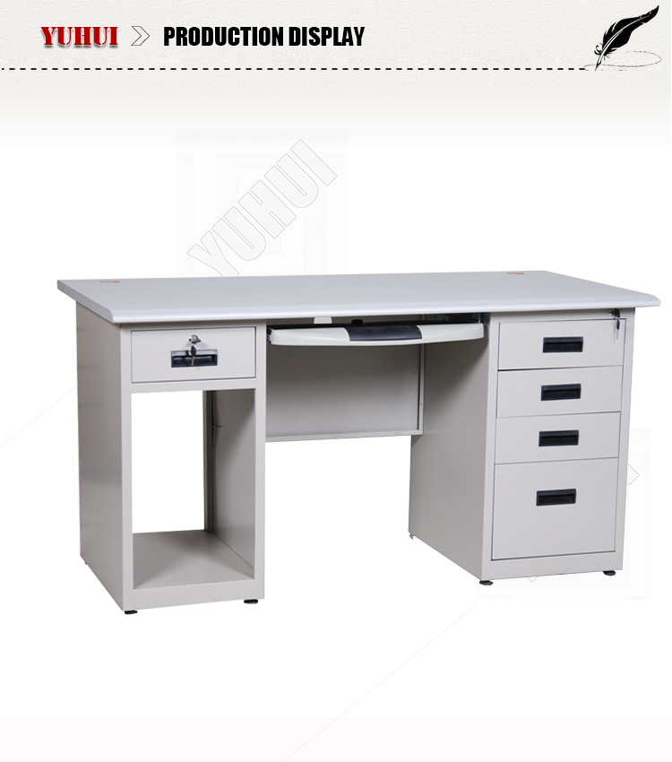 Light Grey Steel Cpu Storage Locking Drawers Office Computer Desks
