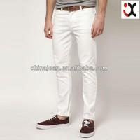 fashion colored jeans men skinny jean cheap white jeans JXC30018
