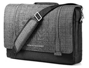 """HP Carrying Case (Messenger) for 15.6"""" Ultrabook - Black, Gray F3W14AA"""