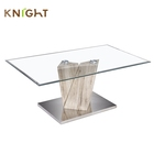 Hot selling indian style modern home used living room furniture centre glass metal mdf material coffee tea tables