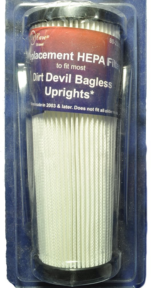 Dirt Devil Bagless Hepa Filter, Dust Care Replacement Brand, Fits: Dirt Devil Bagless Upright Machines made in 2003 and later, Number 088100/088115, Bagless Extra Light, Breeze, Featherlite Bagless, Jaguar Bagless, Platinum Force Vision, Platinum Force Vi