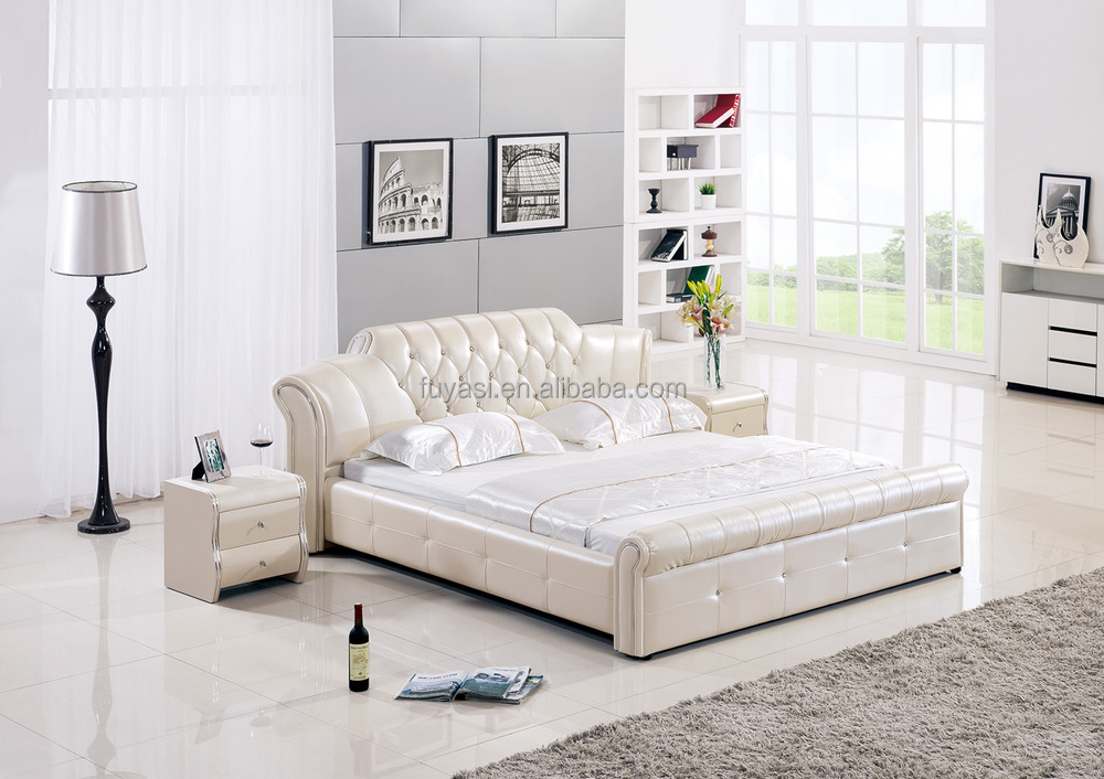 Prinzessin Deco Vollleder Bett Diamant King-size-bett Bett-night ...