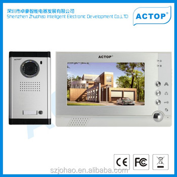2-12 Multi Apartment Security Camera System Photo Taking Doorbell ...