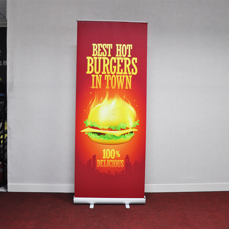 Standard Size 80*200 100*200 120*200 CM Rollup Advertising Display Roll Up Banner Stand