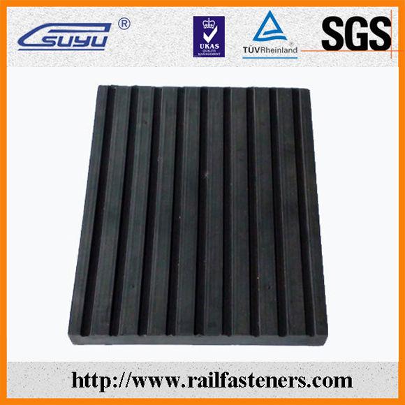 China Manufacturer Shanghai Railway Rubber Track Pad