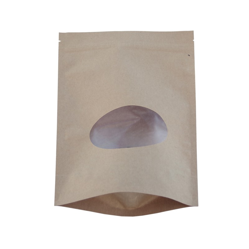 high quality ziplock beef jerky white kraft paper food stand up bag with window