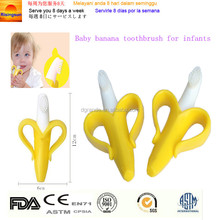 2017 New Coming Safety Soft Baby Teether Toys Baby Banana Bendable Training Toothbrush Teether Infant Teether