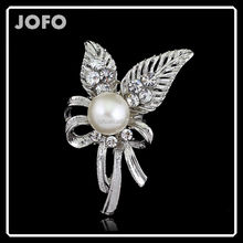 2015 New Design Fashion Custom Logo Silver Brooch Wedding Accessories DRJ0403
