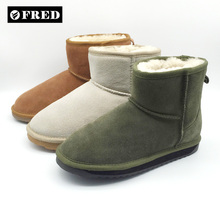 Women's OEM ankle sheepskin boots shoes supplier