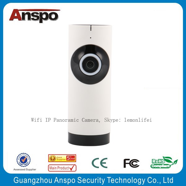 Hot sale H.264,1.0MP WiFi IP intelligent Camera 180/360 degrees wide angle