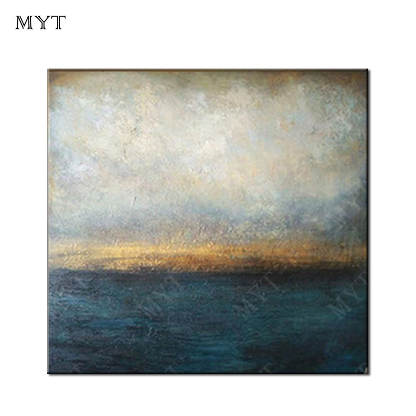 MYT 중국어 Abstract Canvas 벽 Art Painting Black 과 White Oil Painting