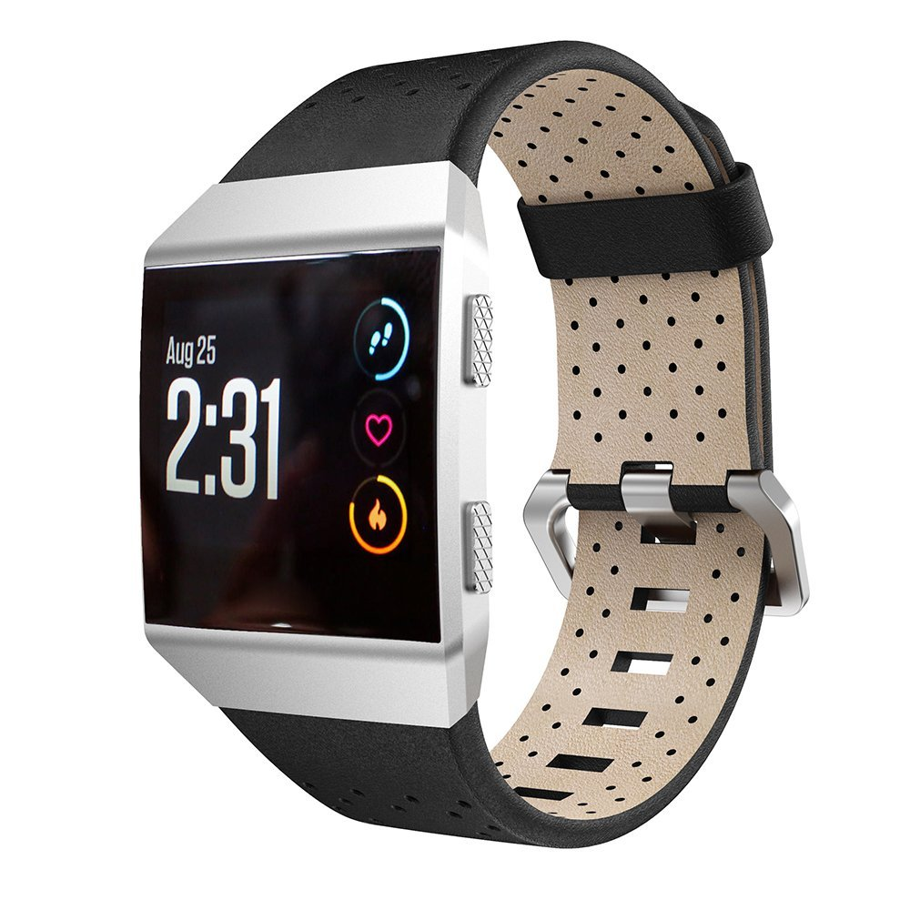 For Fitbit Ionic Band, Newest Genuine Leather Replacement Watch Bands Wristband Bracelet Strap for Fitbit Ionic Smart Watch