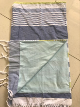 100%Cotton Kikoy beach towel with 2 sides fabric