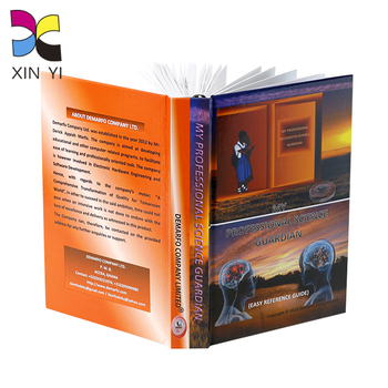 Custom colorful printing large format photo leather book with embossed