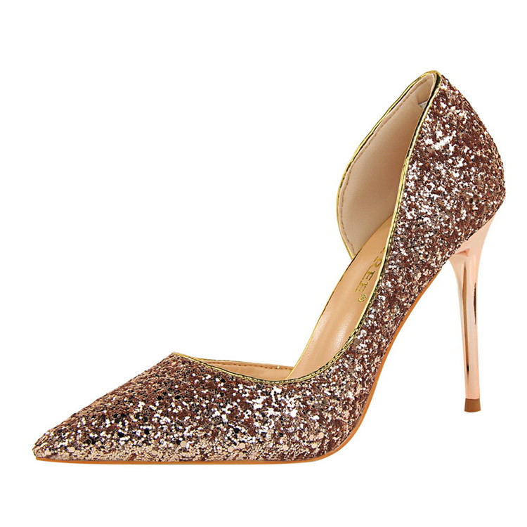 afe0aad0266 Side Cut-outs Prom Pumps Night Club Bling Bling Glitter Sexy High Heels  Shoes Women - Buy High Heels Shoes Women,Sexy High Heels Shoes  Women,Glitter ...
